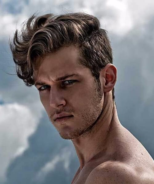 side part hairstyles for men with wavy hair