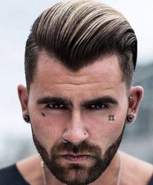 slick back widows peak hairstyles