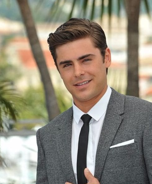 zac efron side part hairstyles