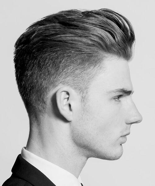 60s slick back blowout haircut