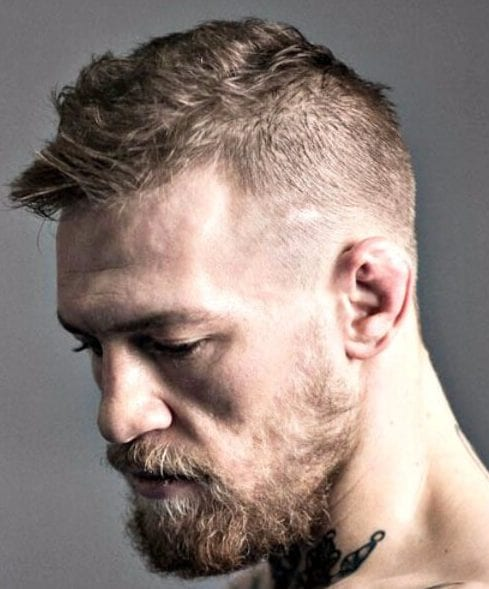 Conor McGregor Hair - Low Fade with Messy Hair low fade haircut