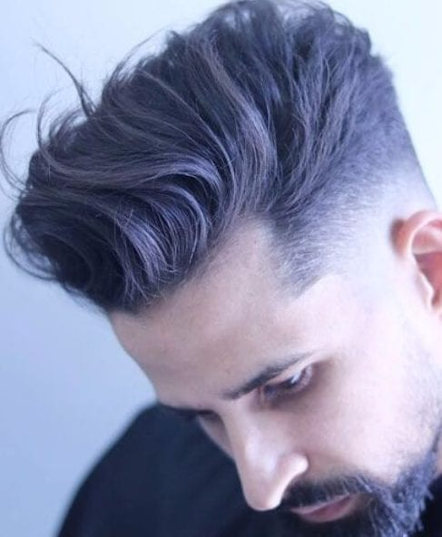 Longer Textured Top low fade haircut