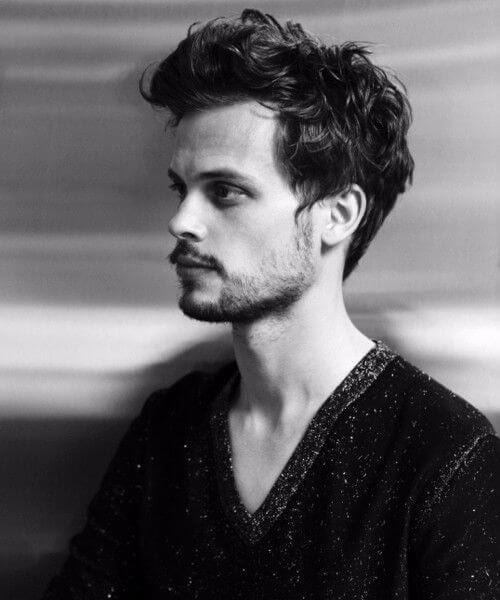 Matthew Gray Gubler blowout haircut