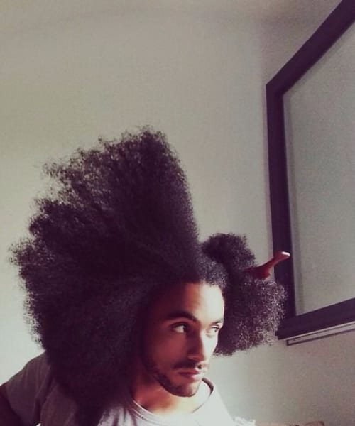 big hair long hairstyles for black men