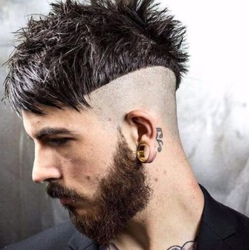 bowl undercut with beard
