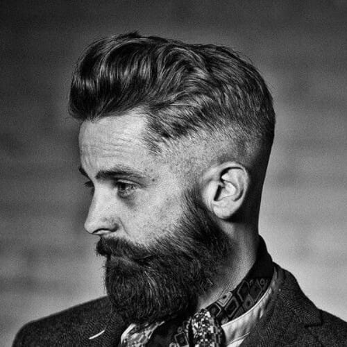 dapper undercut with beard