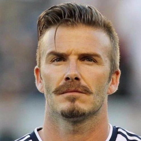 david beckham undercut with beard