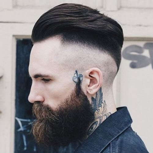 disconnected undercut with beard