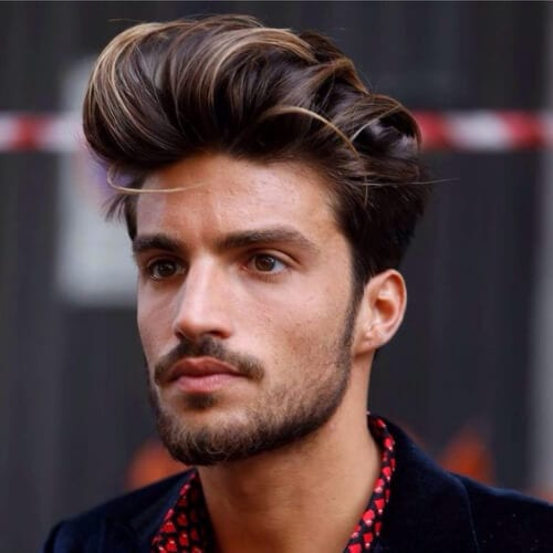 dramatic undercut with beard