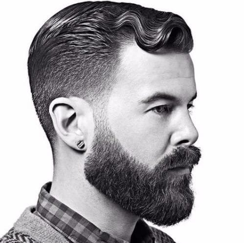 finger waves undercut with beard