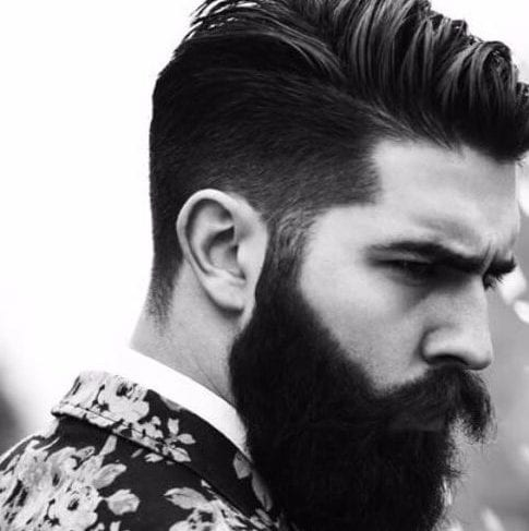 full beard undercut with beard