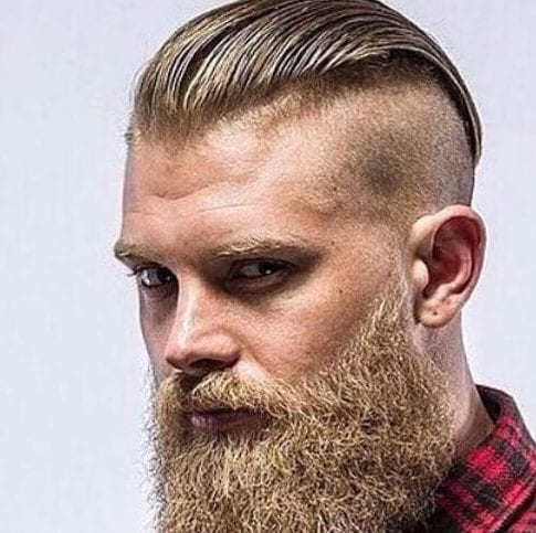 gelled undercut with beard