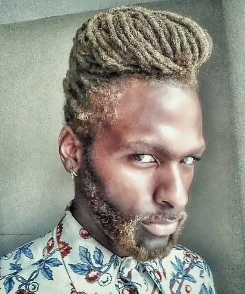 golden dreads long hairstyles for black men