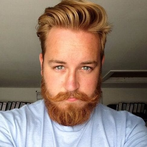 golden undercut with beard