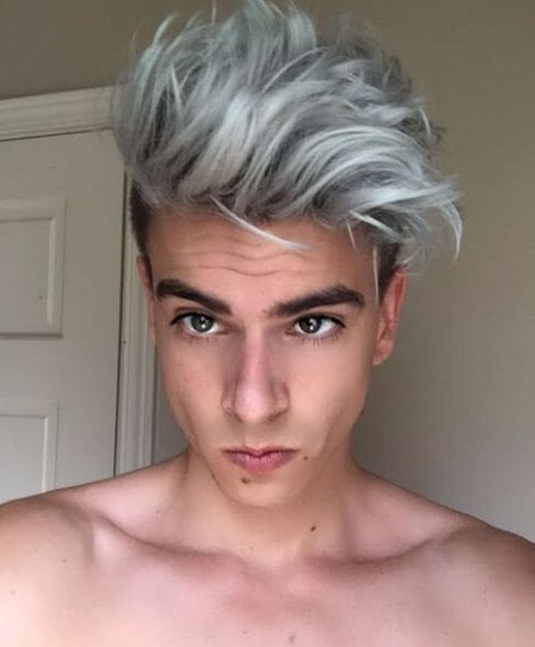 gray low fade haircut