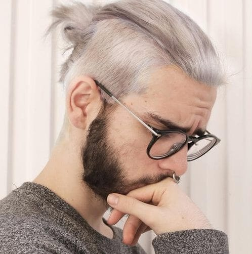 gray undercut with beard