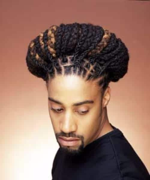 halo long hairstyles for black men