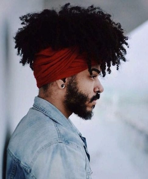 headscarf long hairstyles for black men