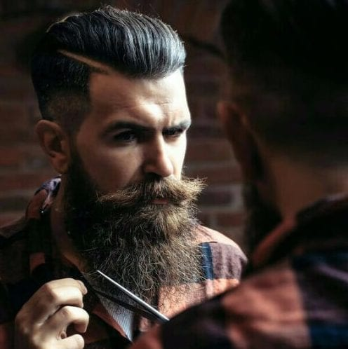 hipster undercut with beard