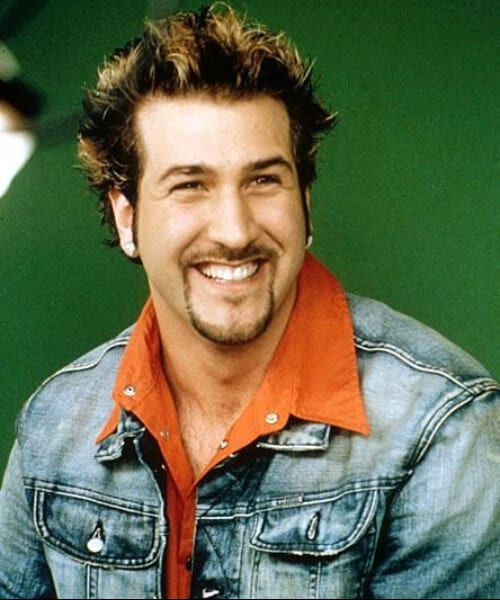 joey fatone nsync blowout haircut
