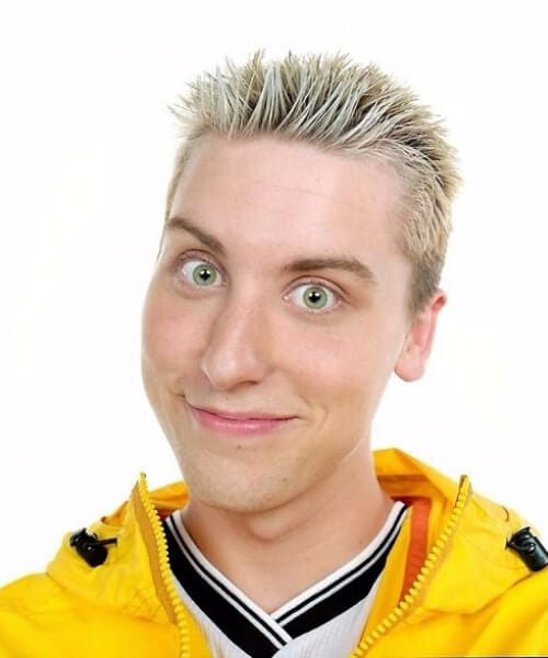 lance bass blowut haircut