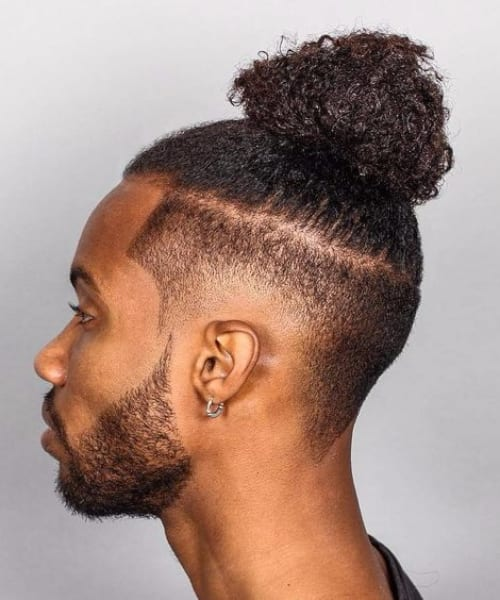 man bun long hairstyles for black men
