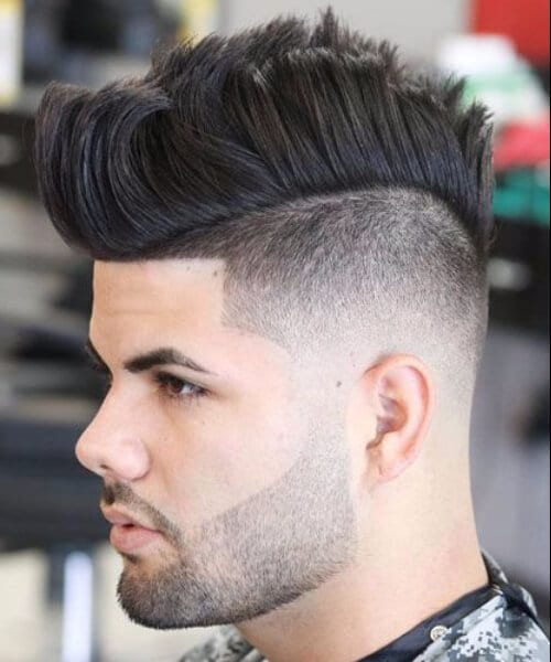 modern mohawk low fade haircut