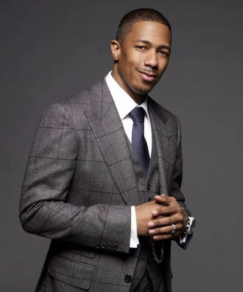 nick cannon low fade haircut