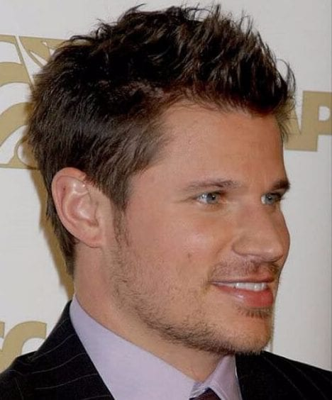 nick lachey blowout haircut
