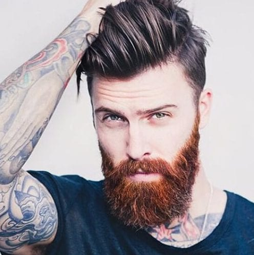 red beard undercut with beard