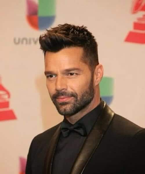 ricky martin low fade haircut