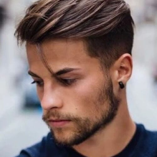 strand undercut with beard