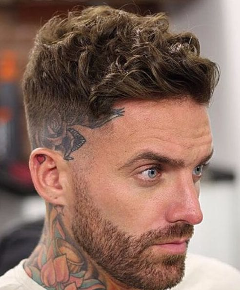 tattoo bald low fade haircut