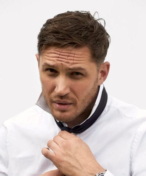 tom hardy low fade haircut