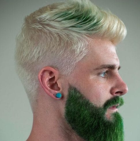 unicorn beard undercut with beard