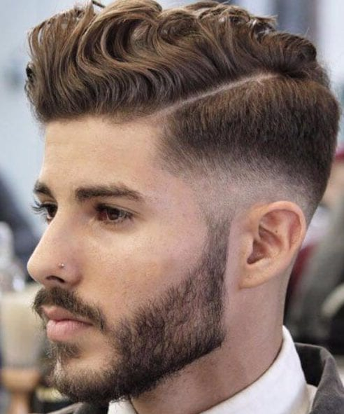 wavy low fade haircut