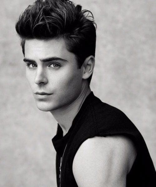 zac efron blowout haircut