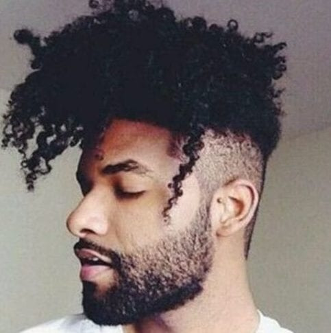 afro undercut with curly hair