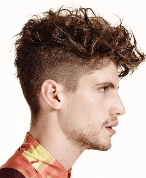 basic undercut with curly hair