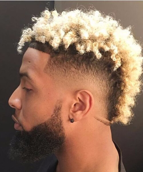 blonde undercut with curly hair