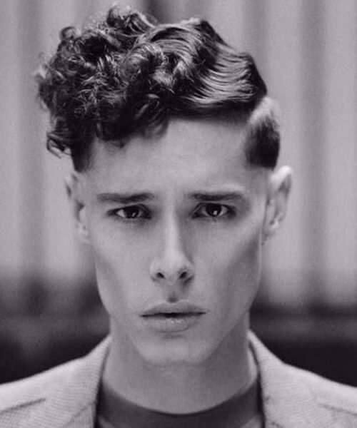 finger waves undercut with curly hair