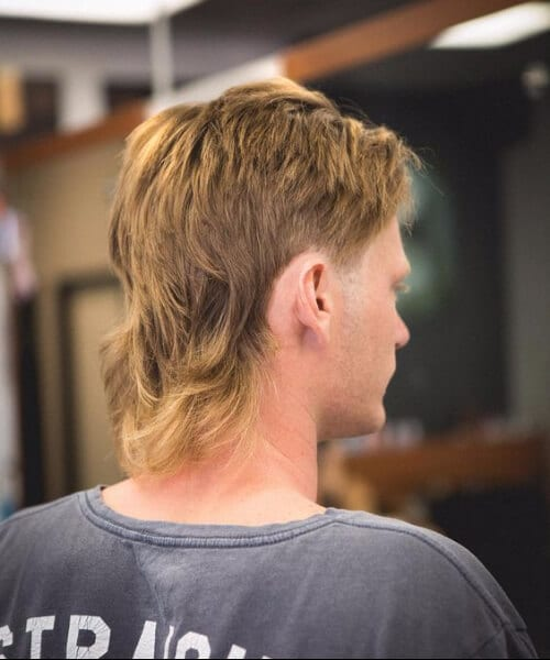 golden mullet haircut