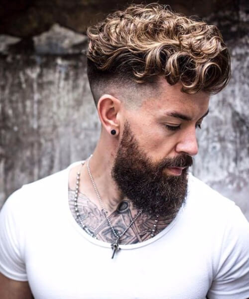 hipster undercut with curly hair
