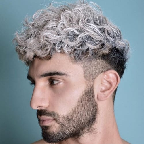 platinum undercut with curly hair