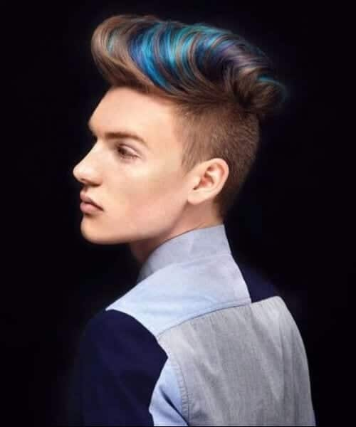 streaked fauxhawk mens fade haircuts