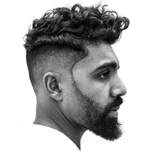 trendy undercut with curly hair