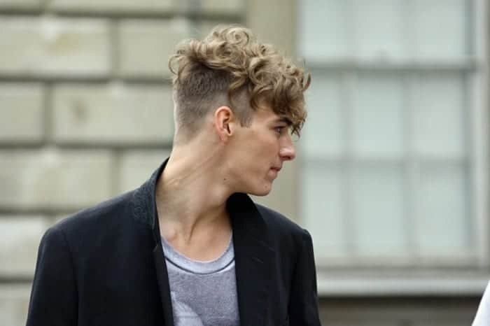 undercut with curly hair
