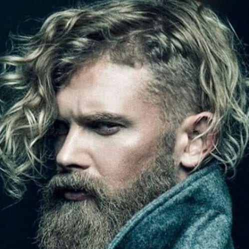 viking undercut with curly hair