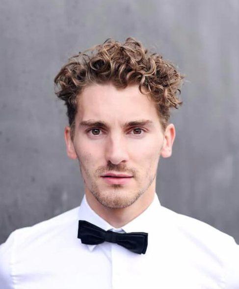 wedding undercut with curly hair