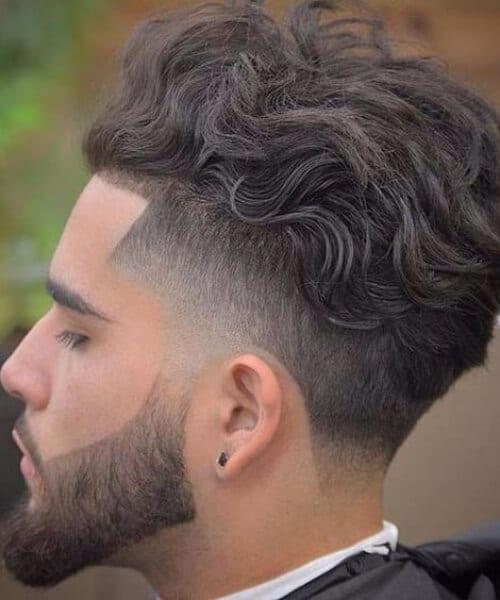 wild wavy mens fade haircuts